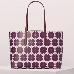 New Kate Spade Molly Graphic Clover Large Tote